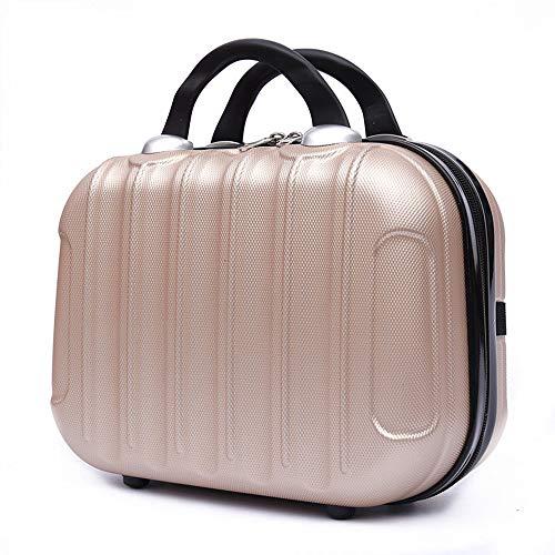 Custodie cosmetiche per bagagli da 14 pollici,Organizzatore cosmetico portatile,Mini valigia trucco cosmetico bagagli borsa rigida custodia da viaggio tronco da toilette Vanity Bag