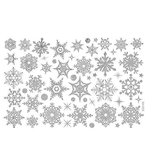 Routinfly DIY Decoraciones creativas Adhesivo de pared de copo de nieve Adhesivo...