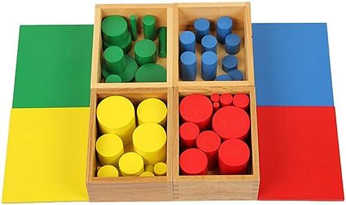 calidad fantástica Juguetes de Caja de 4 4 4 Conjuntos de Cilindros Knobbless Montessori Sensoriales Madera  servicio considerado