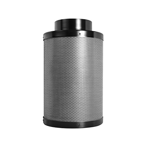 Activated Charcoal Carbon Filter 6 x 12, Up to 250 CFM, Premium Grow Tent Odor Scrubber, 1.8 Extra Thick Layer of Top Grade Activated Australian Virgin Charcoal-Great for Hydroponics and Growing