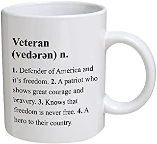 Funny Mug - Veteran Definition, Retired, War - 11 OZ Coffee Mugs - Funny Inspirational and sarcasm - By A Mug To Keep TM