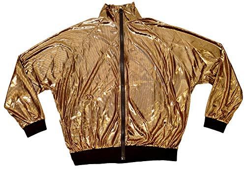 DFギャラリー ブルゾン ダンストップス ヒップホップ衣装 メタリック CA21202 ゴールド フリー