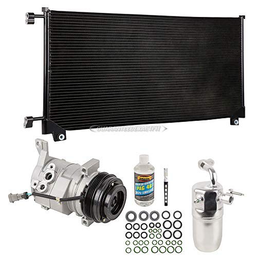 A/C Kit w/AC Compressor Condenser & Drier For Chevy Silverado GMC Sierra Gas V8 2000-2005 Replaces Denso 10S20 - BuyAutoParts 60-82439CK New