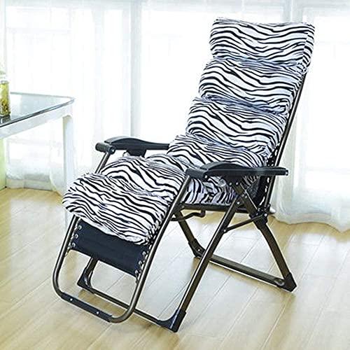 FXBFAG Cómodo sillón reclinable ajustable para exteriores con cojines (Color: F)