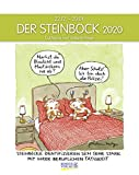 Steinbock 2020: Sternzeichenkalender-Cartoonkalender als Wandkalender im Format 19 x 24 cm.