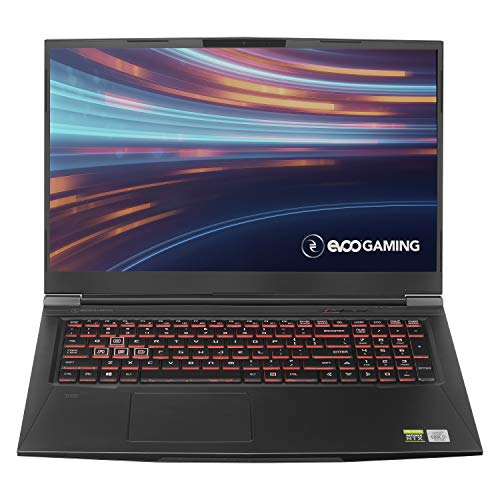 "EVOO Gaming 17.3"" Laptop, FHD, 144Hz, Intel Core i7-10750H Processor, NVIDIA GeForce RTX 2060, THX Spatial Audio, 512GB SSD, 16GB RAM, RGB Backlit Keyboard, HD Camera, Windows 10 Home, Black"