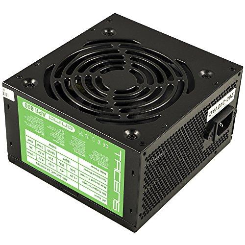 Tacens Anima APII600 - Fuente de alimentación de ordenador (600 W, 12 V, ventilador de 12 cm, ATX, anti-vibración), negro