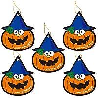 モノココロ ハロウィンのお化けかぼちゃ ジャック・オ・ランタンの金のゴム紐付きタッグ100枚入