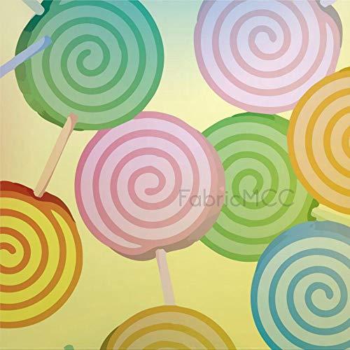 daoyiqi Lollipop - Juego de adhesivos decorativos para azulejos de vinilo (45,7 x 45,7 cm), diseño de azulejos de vinilo impermeable