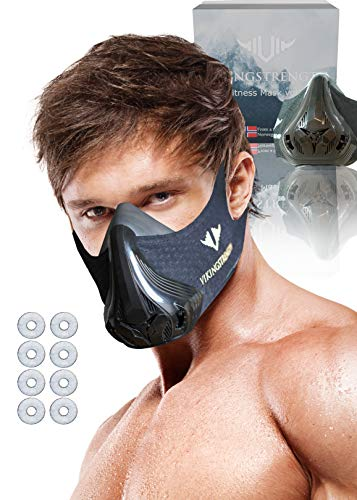 Vikingstrength 3 Generation VO2 Workout Mask for Running Biking MMA Endurance with Adjustable Resistance High Altitude Elevation Mask for Air Resistance Training