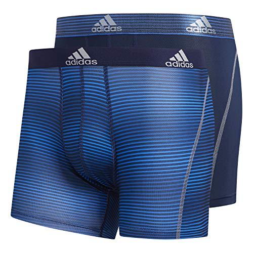 adidas Herren-Sportunterwäsche, 2er-Pack, Sundown Collegiate Navy Collegiate Navy / Grau, Größe L
