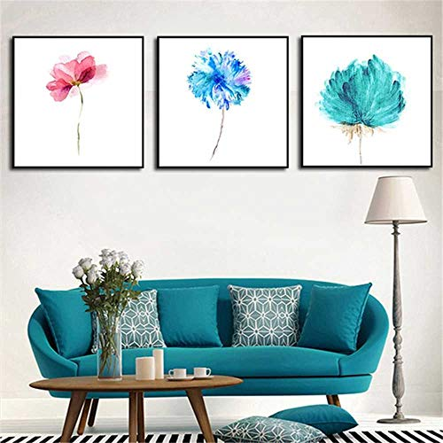 YSNMM 3 Panel Abstract Printed groene bloem muurschildering canvas kunst afbeelding keuken schilderij oningelijst