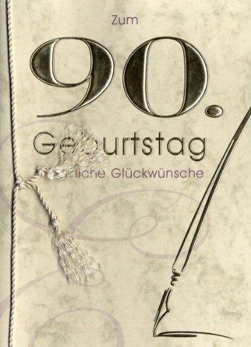 Horn Grußkarte Urkunde Zum 90. Geburtstag herzliche Glückwünsche A5