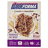 Pesoforma Barrette - Pasti Sostitutivi Dimagranti Solo 23 Kcal - Ricco In Proteine - 6 Pasti, Cereali Croccanti E Cioccolato, 3 Unità