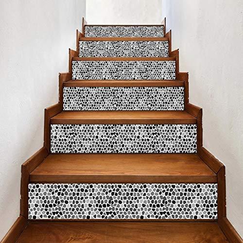 ZR&YW 6Pcs DIY Stairway Stickers, 3D 100X18cm Autoadhesivo Hogar Decorativo Decorativo Calcomanías/Pintura Mural para Azulejo, Ladrillo, Escaleras Laterales De Madera
