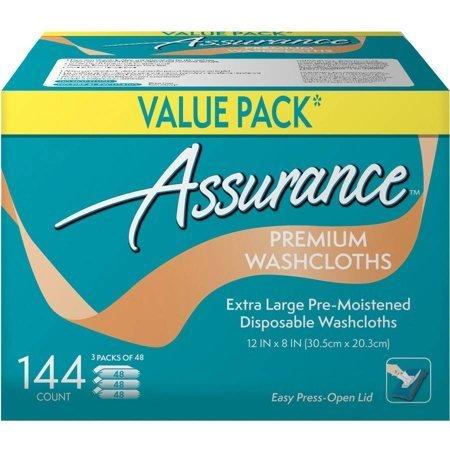 ..Assurance Premium Washcloths Value Pack 144 Count Carton, 1-Pack
