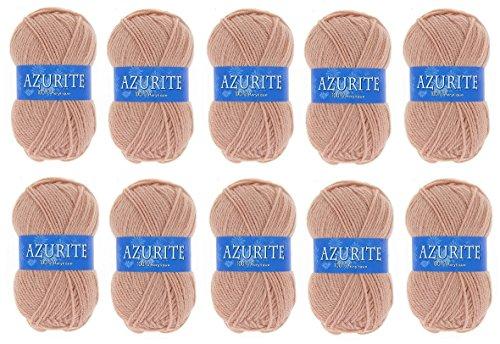 Lot 10 Pelotes de laine Azurite 100% Acrylique Tricot Crochet Tricoter - Rose - 1979
