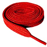 (3 Pair) Flat 5/16' Wide, 52' Lengths Many Colors Athletic Sneaker Shoe Laces Strings Shoelaces Bootlaces Tennis Shoes Athletic -Red