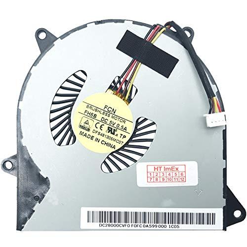 Lüfter/Kühler Fan kompatibel mit Lenovo ideapad 100-14IBD, 100-14IBY, 100-14IBD (80RK), 100-15IBD (80QQ), 100-15IBY (80MJ), 100-15IBY, 100-14IBY (80MH), 100-15IBD, 100-14IBY (80R7)