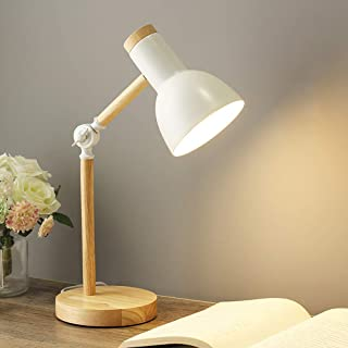 Lampe de table en bois,douille E27, câble de 1,5 m avec interrupteur,max 60W,lampe décorative pour rétro industriel Ediso...