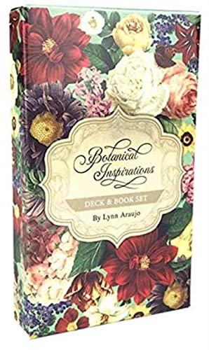 YQRX Deck Inspirations Botanical, Tarot Divination Board Tarjeta de Juego, Tarjeta de Juego Creativa en inglés, Juego de Mesa de Fiesta Familiar (Paquete, Mantel)