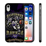 Ravens iPhone XR Case Slim Fit Protective Back Cover Anti-Skid Hybrid Soft Grip Premium TPU Rubber Shockproof Anti-Scratch Textured Panel Shell for iPhone XR 6.1-inch