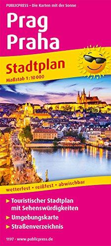 Prag, Praha: Touristischer Stadtplan mit Sehenswürdigkeiten und Straßenverzeichnis. 1:10.000 (Stadtplan: SP)