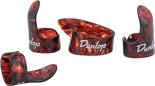 Dunlop 9020TP Shell Plastic Finger & Thumbpicks, Large, 4/Player's Pack