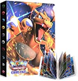 UHIPPO Album Compatible with Pokemon GX Cards, Trading Cards Holder Binder, Card Album Floder Binder Compatible with Pokemon Cards, 30 Pages–Can Hold 240 Cards (Back-to-Back) (Charizard)