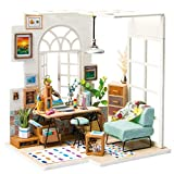Rolife DIY Miniature Dollhouse Kit Diorama Room Model with LED Gifts for Boys Girls Women Friends(SOHO Time)