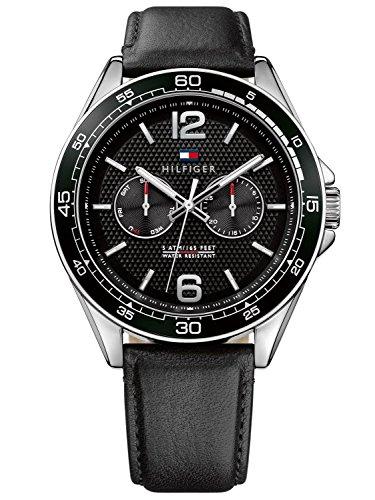 Tommy Hilfiger Herren Analog Quarz Uhr mit Leder Armband 1791369
