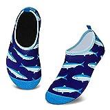 Scarpe da Bagno per Bambini Ragazze Ragazzi Asciugatura Rapida Scarpette da Surf per Piscina Spiaggia Canottaggio(Piccolo Squalo Blu,4/4.5 UK Child,20/21 EU)