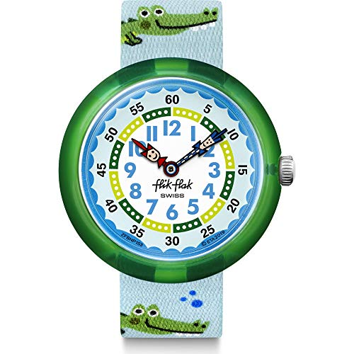 Flik Flak Unisex Kinder Analoger Quarz Uhr mit Textil Armband FBNP153