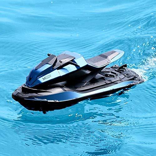 Bck 1/14 Modell Motorboot High Speed Jet-Ski Elektrische Fernbedienung 4CH Speed Boat wiederaufladbar 2.4g Radio RC Anti-Collision Spielzeug Geschwindigkeit Schiffsboot für Pools Seen Outdoor Jung