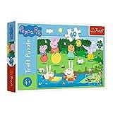 Trefl GXP-674614 , Puzzle, Spielen im Sommer, 60 Teile, Peppa Pig, für Kinder ab 4 Jahren