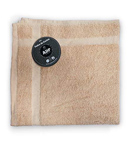 ADP Home - 6 Paños de Cocina Cuadrados 100% Algodón (50x50 CM) Beige