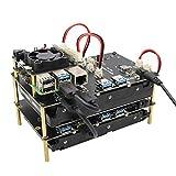 Geekworm Raspberry Pi SATA Adapter 3.5', X835 3.5 inch SATA HDD Storage Expansion Board for Raspberry Pi 4 Model B/Pi 4/3B+/3B/2B