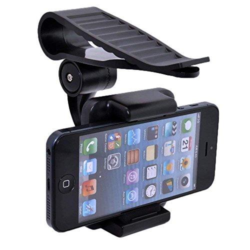 XCSSKG Able - Soporte para parasol de coche para iPhone 4/4S/iPhone 5/5S/5C/6/6S/6S Plus/7/7 Plus/8/8 Plus/X