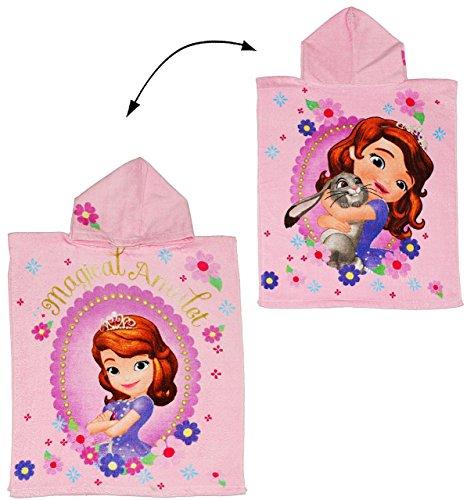 alles-meine.de GmbH Badeponcho - Sofia die erste - 50 cm * 115 cm - 4 bis 8 Jahre Poncho - mit Kapuze - Handtuch Strandtuch Baumwolle - Disney The First / Prinzessinnen - Mädchen..