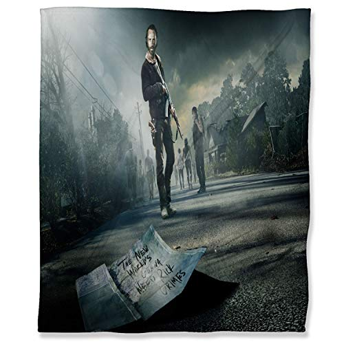 ARYAGO - Manta de felpa (180 x 230 cm), diseño de The Walking Dead