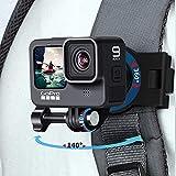 Professional GoPro Mount for Backpack Strap ,Adjustable Camera Shoulder Mount...