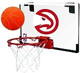 Rawlings NBA Game On Polycarbonate (PC) Mini Basketball Hoop Set, Atlanta Hawks