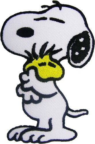 Lucky Patches, Aufnäher, Applikation, Aufbügler, Iron on Patch - Cartoon, Snoopy, The Peanuts - 9 x 5,7 cm