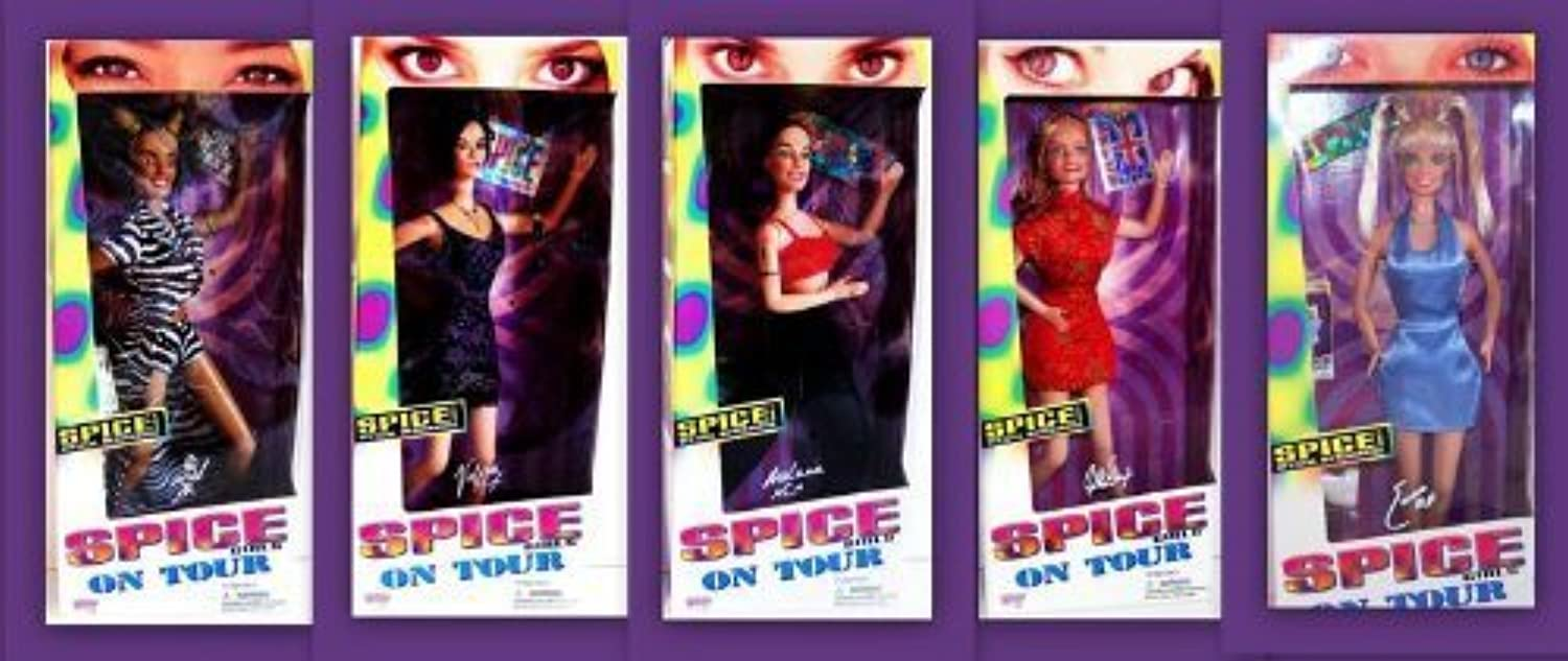 New New New Sealed 1997 Galoob Toys Spice Girls On Tour Series Complete Set Of 5 by Galoob Direct Inc. bb28f7