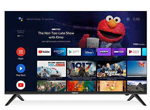 Caixun Android 9.0 TV EC43S1A 43 Pouces Smart TV,108cm 4K Téléviseur(Prime Video,Netflix,Youtube,Google Assistant,Google Play Store) HDR, Triple Tuner,Blueteeth [Classe énergétique A+]