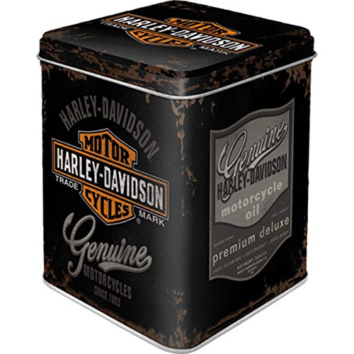 Nostalgic-Art Retro Teedose Harley-Davidson, per conservare sfusi e bustine di tè, Idea Regalo Vintage per Gli Appassionati di Moto, 100 g