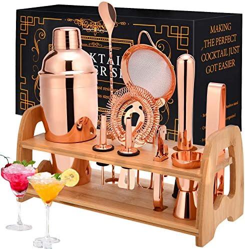 Cocktail Shaker Set Bartender Kit 11 Piece Bar Set for Home Bartending Kit For Drink Mixing product image