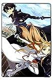 Cartel de metal para pared con diseño de espada de anime para pared o pared o espada, póster de anime japonés anime TV Show Poster Cocina Bar Retro Vintage regalo 20 x 30 cm