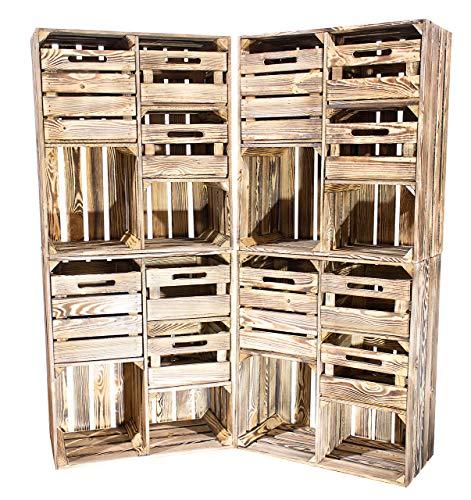 Preisvergleich Produktbild 1-3 x Rustikale schmale Kommode aus geflammten Holz,  3 Schubladen für Wintersachen / Unterwäsche / Socken,  neu,  68x35x77cm (3)