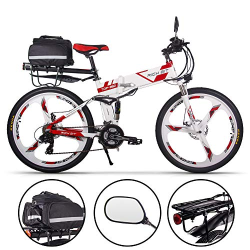 RICH BIT E-Bike MTB Bike 21-Zoll faltbares Elektrofahrrad mit großer Kapazität 250W 36V und 21-Gang Shimano. RT-860